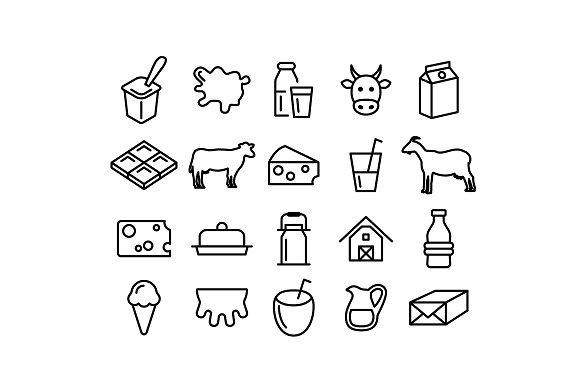 MILK Vector Line Icons