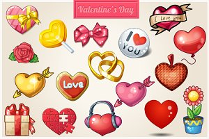Hearts icons for Valentine's Day ♥