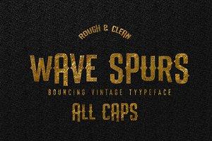 Wave Spurs Typeface