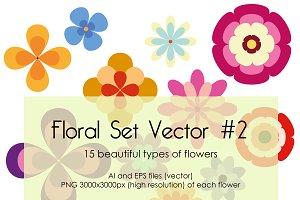 Floral Set Vector #2