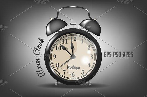 Vector Vintage Alarm Clocks