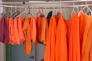 Dry orange cloth