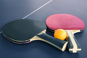 Table tennis or ping pong rackets