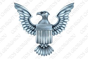 Metal American Eagle Shield