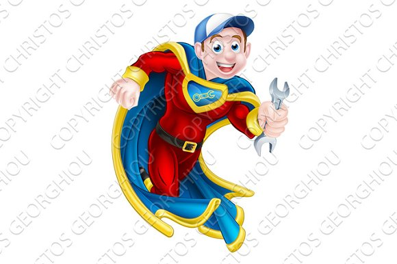 Plumber Mechanic Spanner Hero