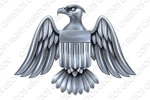Silver American Eagle Shield