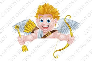 Valentines Cupid Cartoon