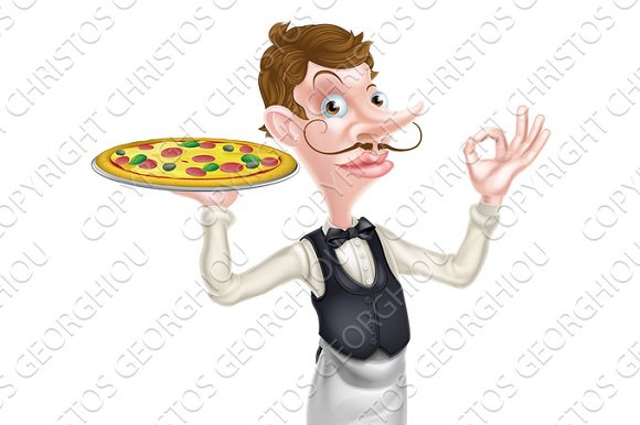 Pizza Waiter Perfect Sign