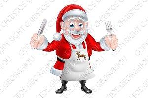 Cartoon Santa Cook