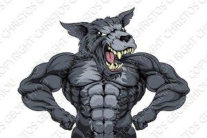 Wolf Animal Sports Mascot