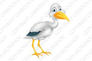 Stork Bird Cartoon