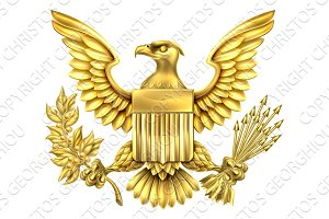 American Gold Eagle Seal