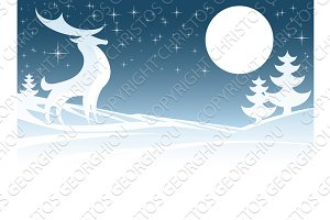 Christmas Deer Illustration