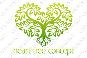 Heart tree concept