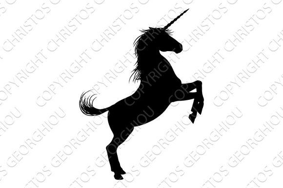 Unicorn Horse Silhouette