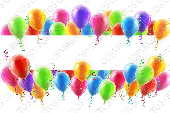 Balloons Party Banner