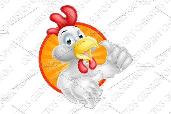 Cartoon Chicken Design