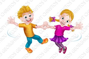 Cartoon Children Dancing