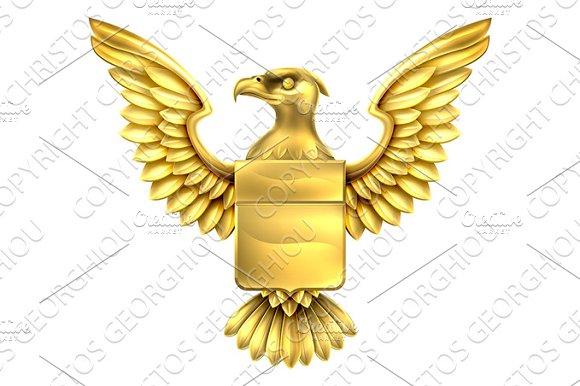Gold Eagle Shield