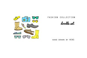 Fashion collection Doodle Set