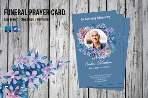 Funeral Prayer Card Template-V555
