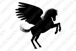 Hind Legs Pegasus Silhouette