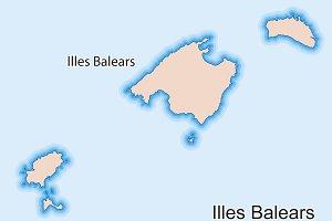 Map of Islas Baleares