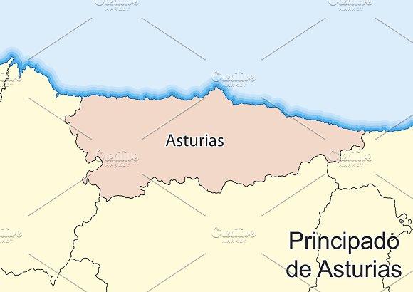 Map Of Asturias