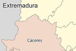 Map of Extremadura