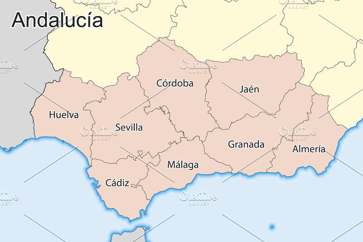 Map Of Spain Jaen.Map Of Andalucia