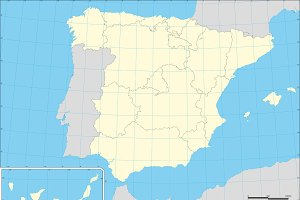 Map of Spain autonomous comunities
