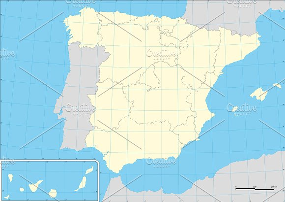 Map Of Spain Autonomous Comunities