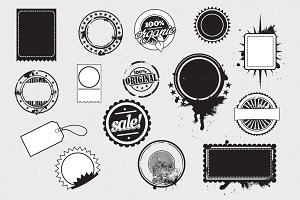 Stickers & Labels Vector Pack
