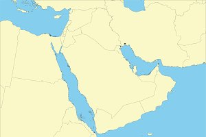 Map of arabian peninsula arabia