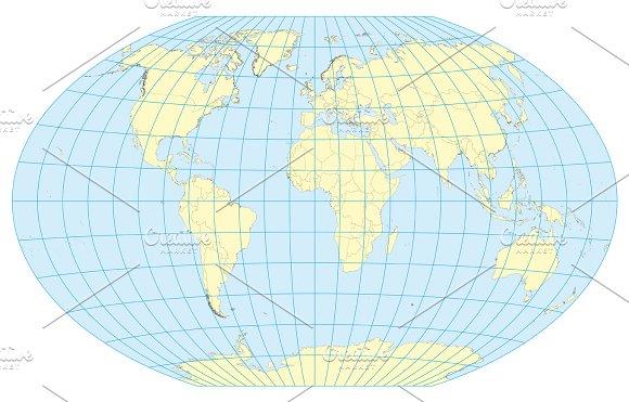 Map Of The World Winkel Tripel
