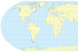 Map of the world Robinson
