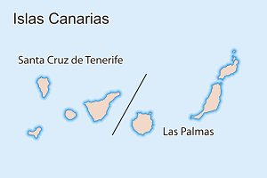 Map of Canary Islands Islas Canarias