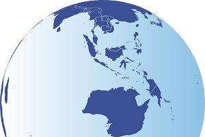 Australia and Antarctic Globe