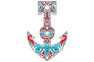 Anchor Totem Pole Northwest Coast