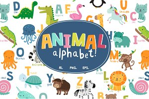 50% OFF SALE Animal Alphabet