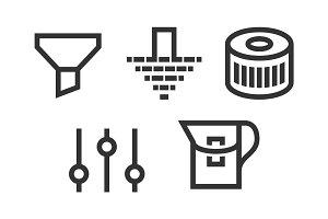 set filter icons