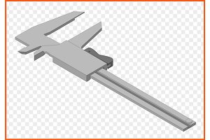 calipers vector eps Illustration