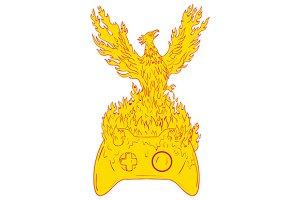 Phoenix Rising Fiery Flames