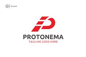 Protonema -Letter P Logo