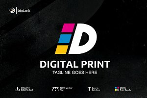 Digital Print - Leter D Logo