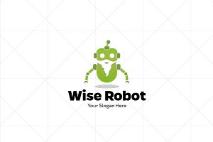 Wise / Smart Robot Logo