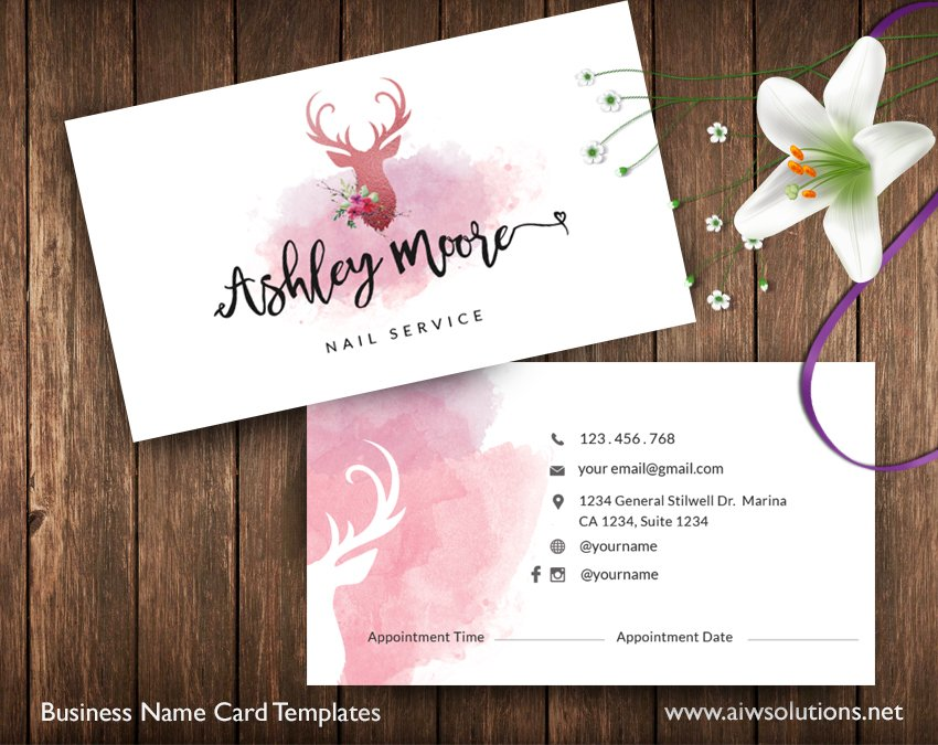 Appointment Card -ID33 ~ Business Card Templates ~ Creative Market