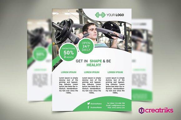 Fitness Flyer / Gym Flyer ~ Flyer Templates ~ Creative Market