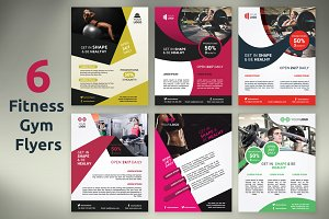 6 Fitness / Gym Flyers