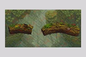 Magic forest platforms trunks